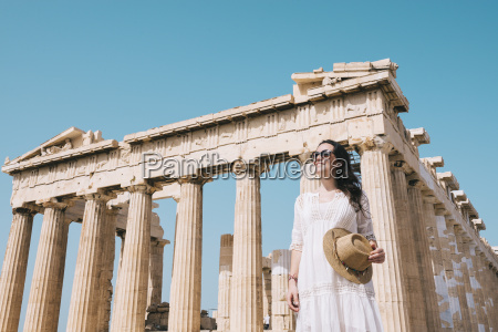 greece athens smiling woman visiting the
