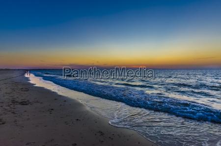 netherlands zeeland kamperland beach at sunset