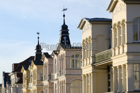germany usedom bansin row of houses