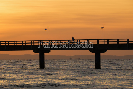 germany usedom bansin sunrise at pier