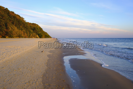 germany usedom bansin beach at sunset
