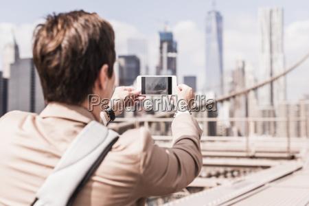 usa new york city woman on
