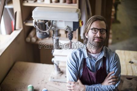 craftsman working in wood work