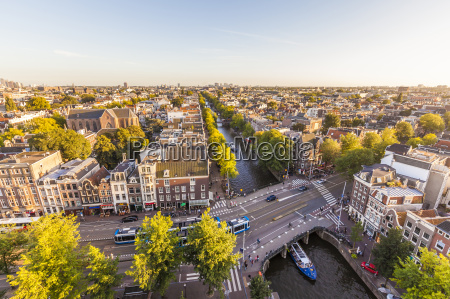 netherlands amsterdam view to the city