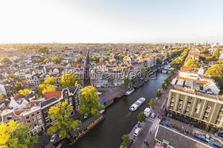 netherlands amsterdam view to the old