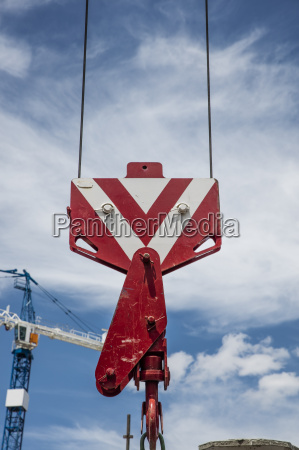 part of a crane at construction