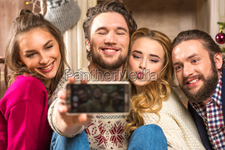 happy, people, taking, selfie - 20547725