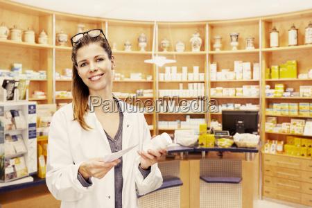 pharmacist shelf pharmacy