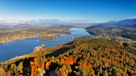 sunny autumn day on the lake