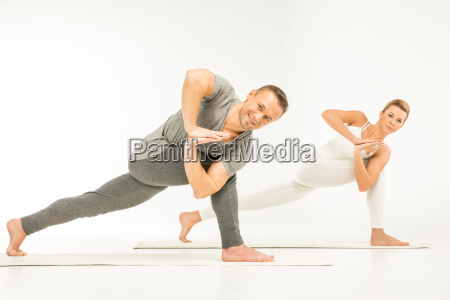 couple, practicing, yoga - 20549305