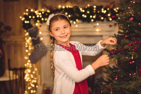 girl, decorating, christmas, tree - 20549905
