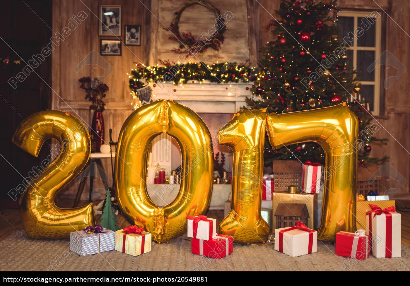 golden, 2017, sign, balloons - 20549881