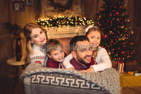 happy, family, smiling, at, camera - 20549779
