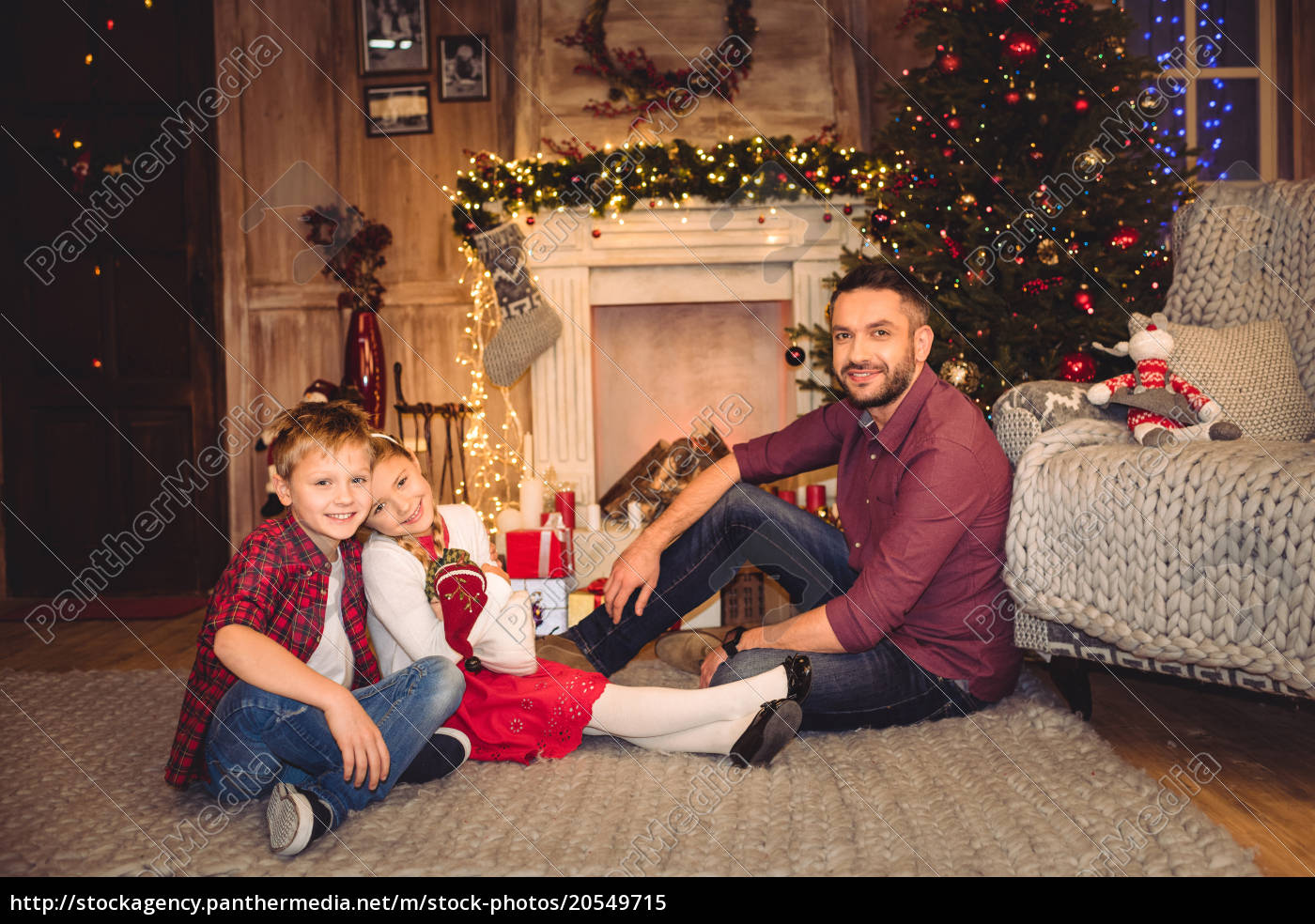 happy, father, with, children - 20549715
