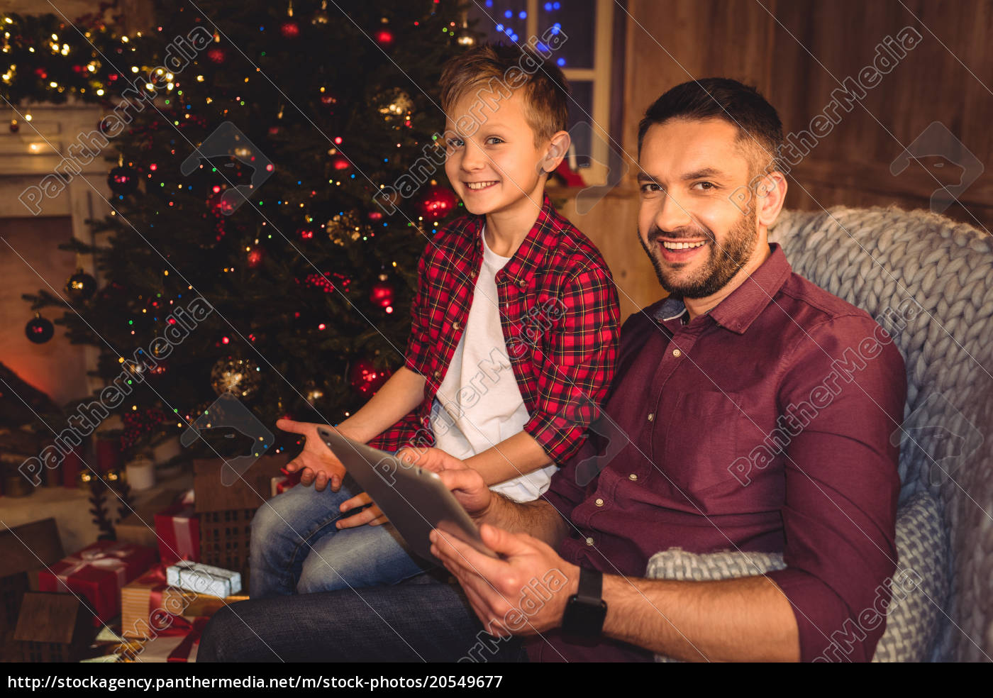 little, son, with, happy, father - 20549677
