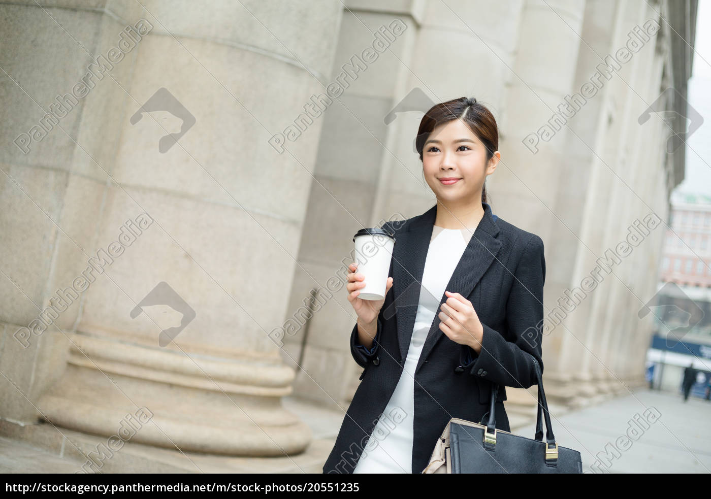 business, woman, walking, at, street - 20551235