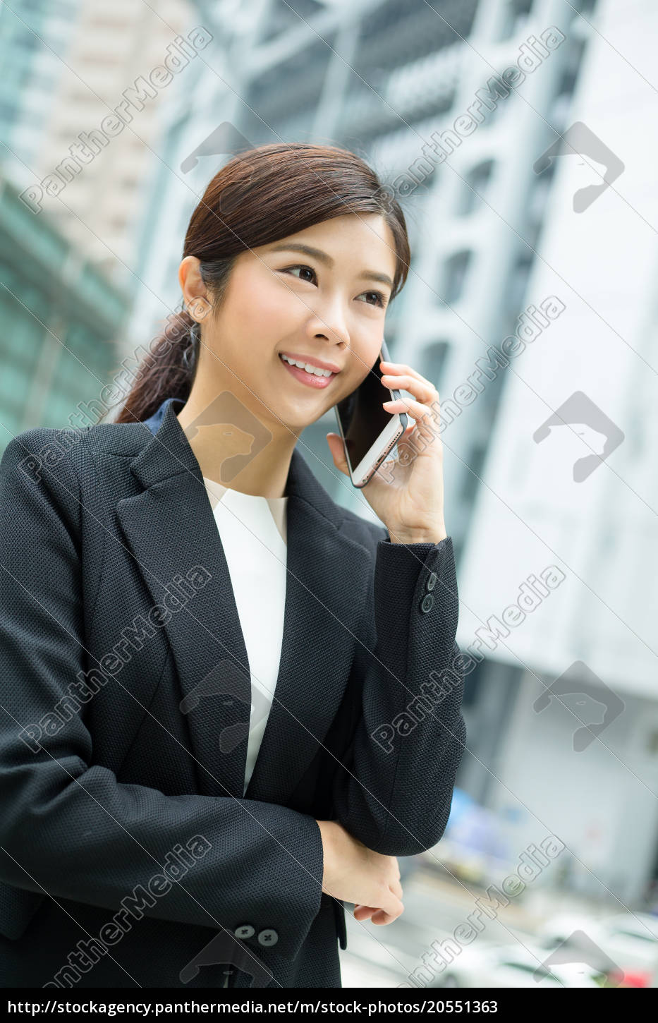 businesswoman, talking, on, smart, phone - 20551363