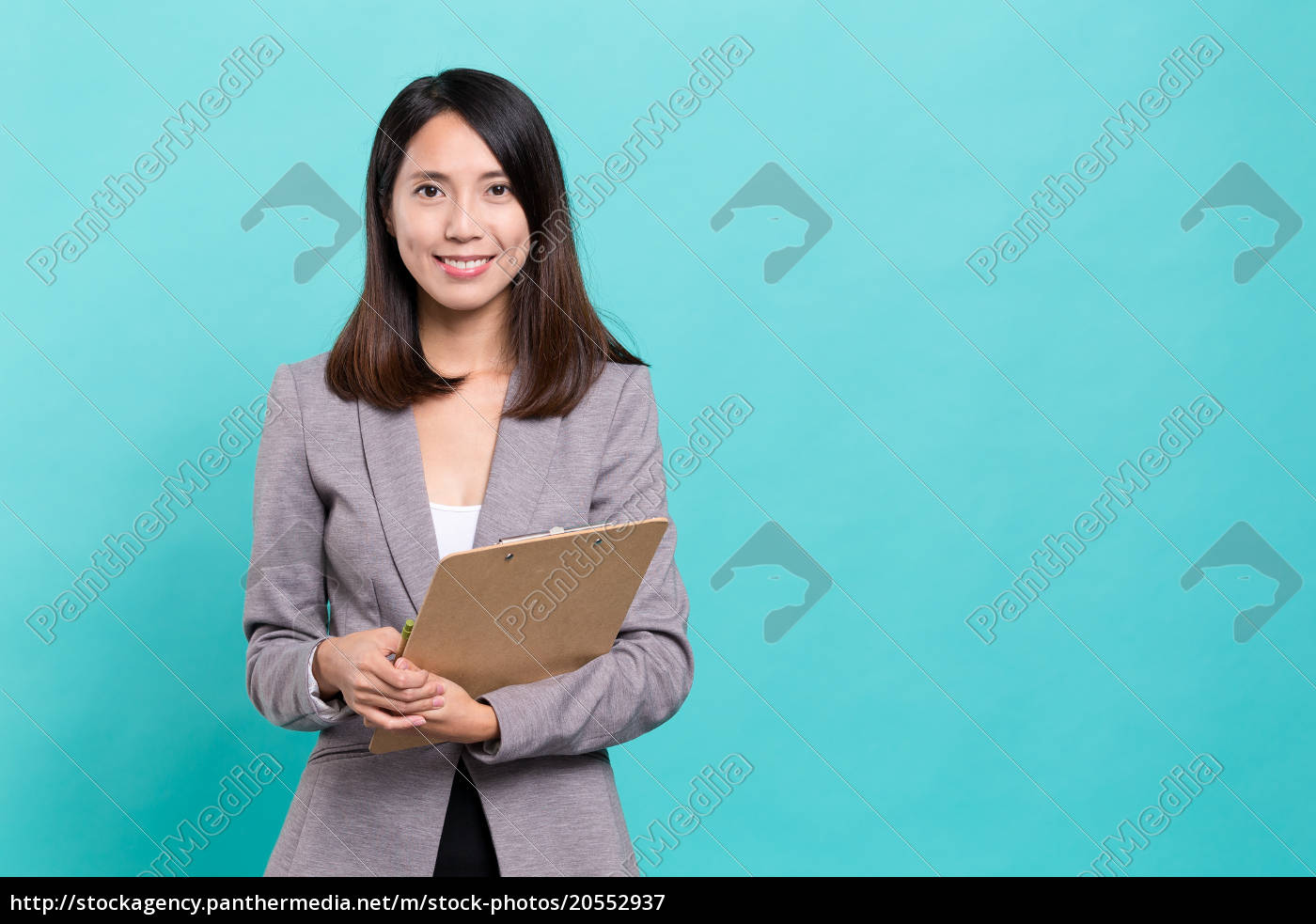 business, woman, with, clipboard - 20552937
