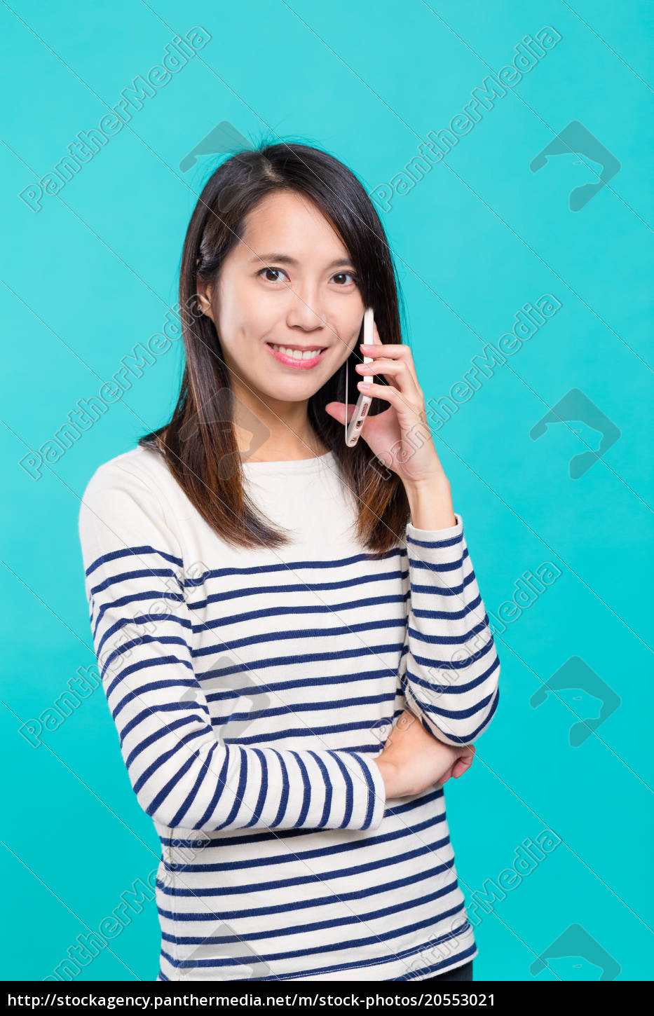 woman, make, a, call, on, cellphone - 20553021