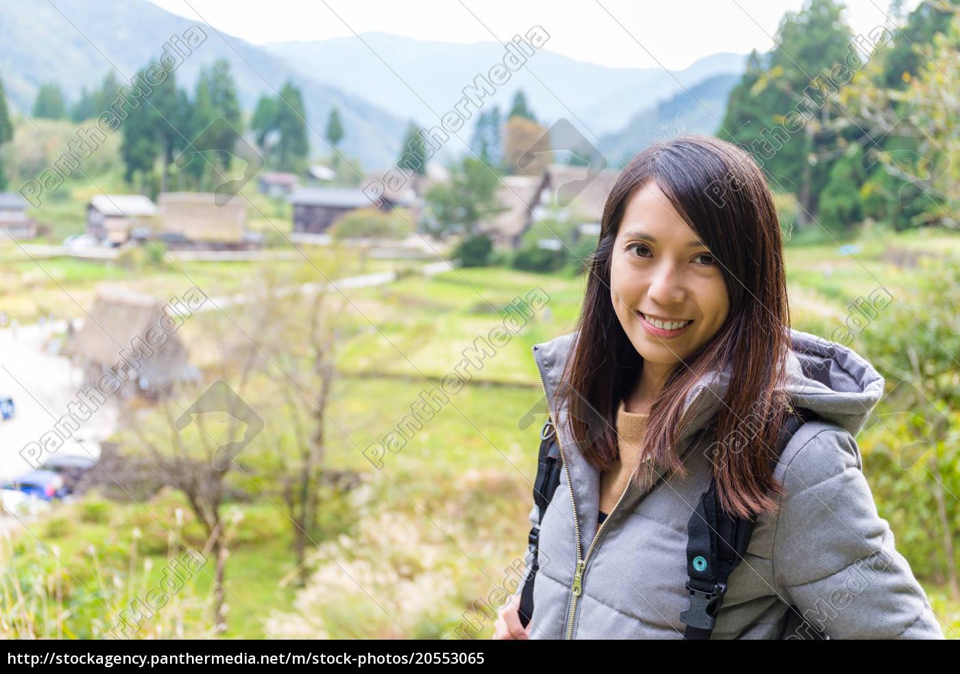 woman, travel, in, shirakawago, historic, japanese - 20553065