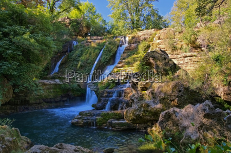 navacelles waterfall in the south of