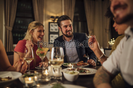 couple at a restaurant meal