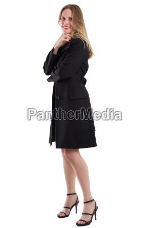 attractive, blonde, woman, in, black, winter - 20557569