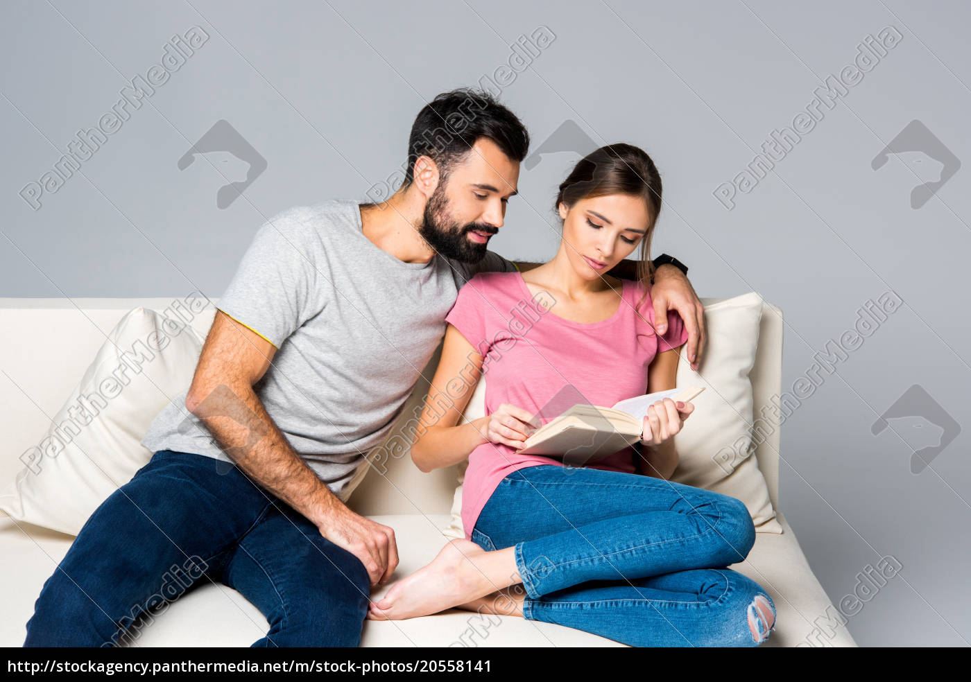 couple, reading, book - 20558141