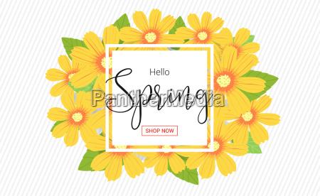 spring or summer flower banner sales