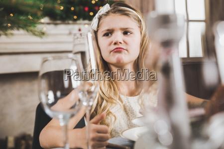 cute, girl, at, holiday, table - 20559235
