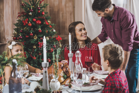 happy, family, at, holiday, table - 20559191