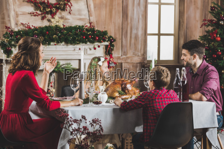 happy, family, at, holiday, table - 20559229