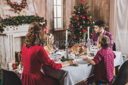 happy, family, at, holiday, table - 20559245
