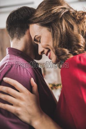 smiling, couple, hugging - 20559313