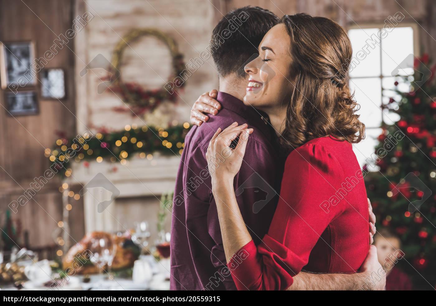 smiling, couple, hugging - 20559315