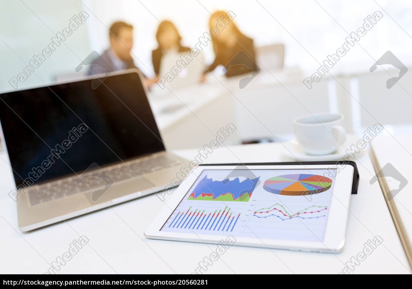 business, meeting, with, tablet, and, laptop - 20560281