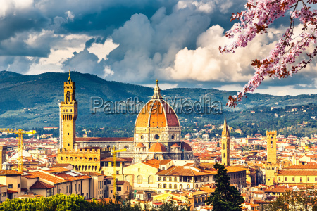 view on florence at spring