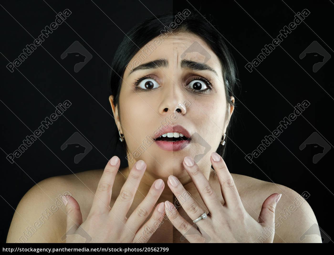 portrait, girl, , before-after, make-up, problem, skin - 20562799