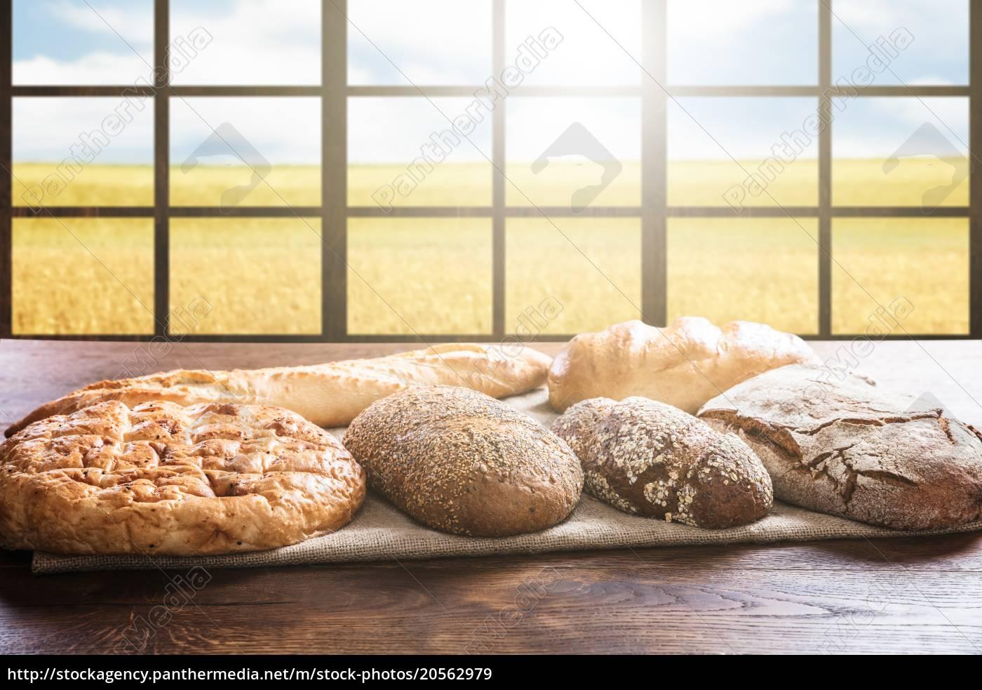 variety, of, bread, near, window - 20562979