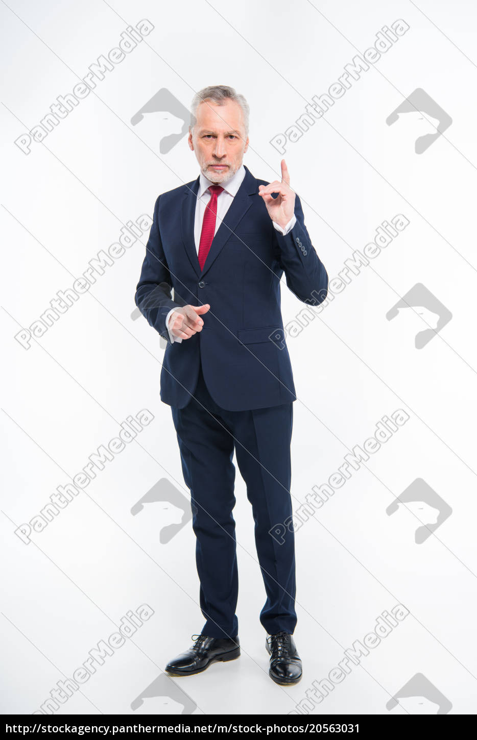 businessman, pointing, with, finger - 20563031