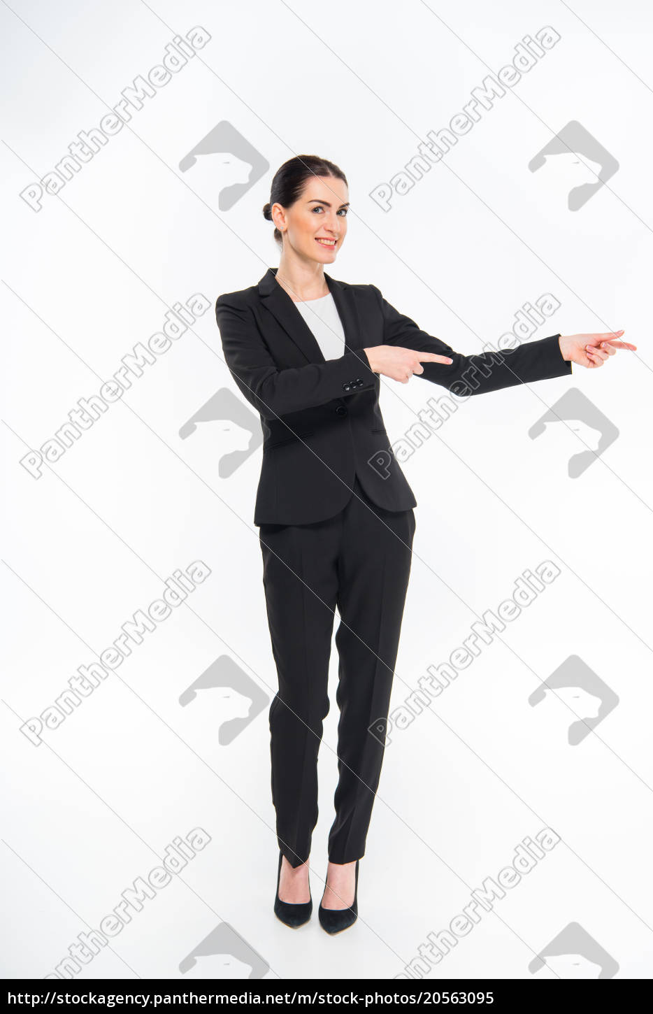 businesswoman, pointing, with, fingers - 20563095