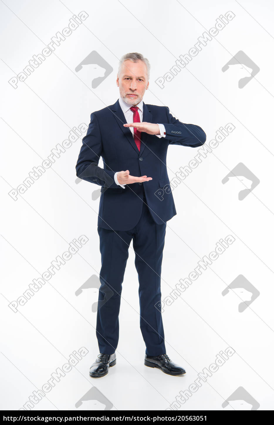 mature, businessman, gesturing - 20563051