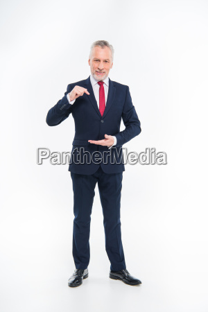 mature, businessman, gesturing - 20563053