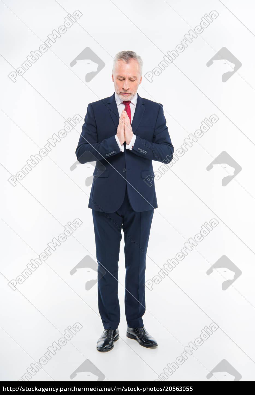 mature, businessman, praying - 20563055