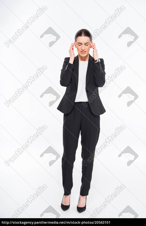 tired, businesswoman, with, headache - 20563101