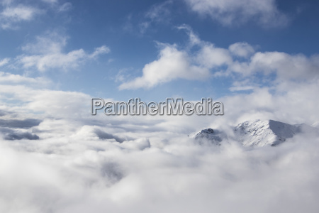 the peak of a snow covered