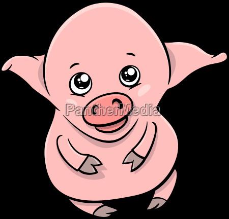 cute piglet cartoon character