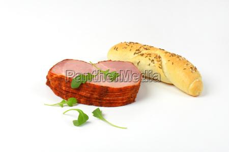 sliced smoked pork