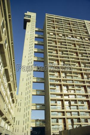 high rise council flats london england