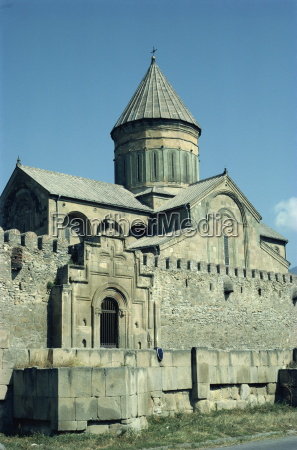 tskhoveli cathedral mtskheta georgia central asia
